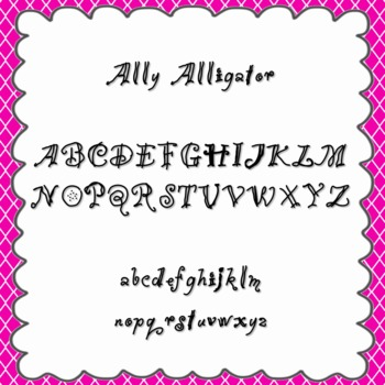 Ally Alligator Font {personal and commercial use; no license needed}