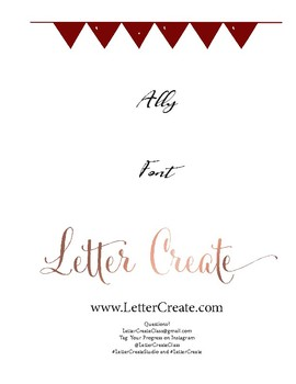 Ally Script Font Calligraphy Workbook, Handwriting, Calligraphy Lesson