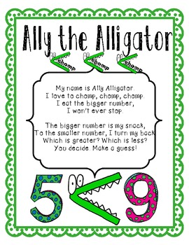 Ally the Alligator Loves to Chomp {Greater Than, Less Than, Equal To}