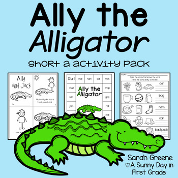Ally the Alligator {short a activity pack!}