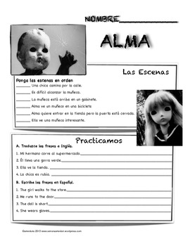 """Alma"" movie talk and follow up activities"