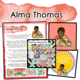 Alma Thomas Artist Portrait, Quote, and Handout/Distance Learning Lesson