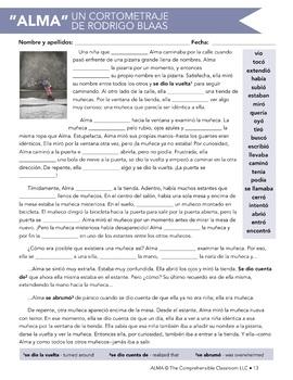 Assessment: Alma (film-based exam, Spanish II)