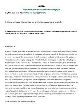 Alma vs. Borges y yo - Interpretive Writing