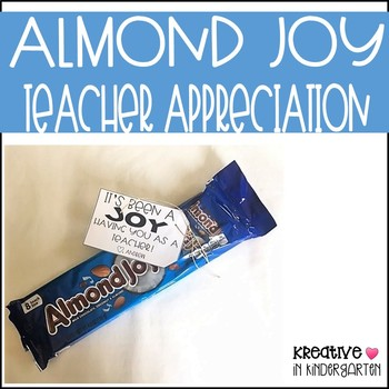 Almond Joy Teacher Appreciation FREEBIE
