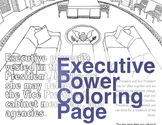 Almost Grown Up Coloring Page: Executive Power