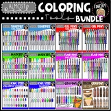 Almost Real Coloring Tools Clip Art Bundle {Educlips Clipart}