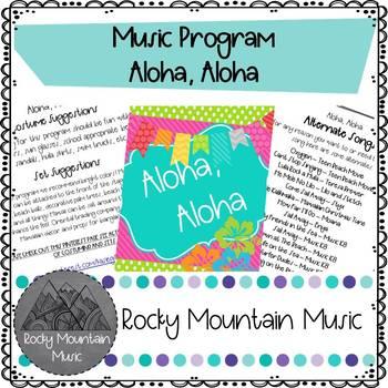 Aloha Aloha Music Program