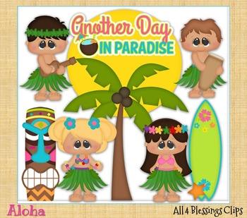 Aloha CLIPART Clip Art Cu Ok ~ Hawai Summer States Vacation Kids Kiddos
