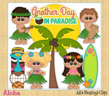 Aloha CLIPART Clip Art Cu Ok ~ Hawai Summer States Vacation Kids Kiddos