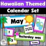 Hawaiian Classroom Theme Pocket Calendar Set
