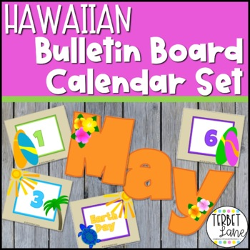Hawaiian Themed Calendar Set
