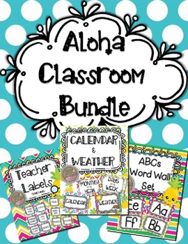 Aloha Classroom Decor & Management Tools Bundle