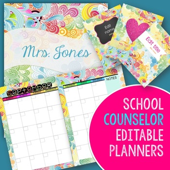 Counselor Binder Planner with Calendars (editable) Growing