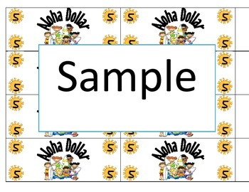 Aloha Dollars (Classroom Money)