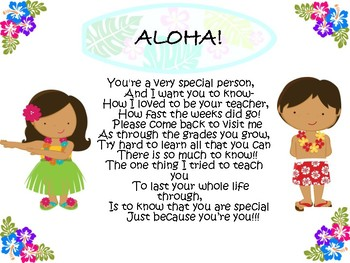 Aloha End of the year