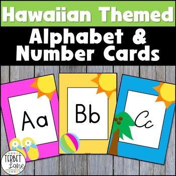 Hawaiian Themed Alphabet Cards