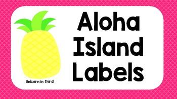 Aloha Island Labels Rectangle