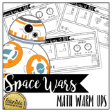 Space Wars Math Warm Ups - Differentiated for 2 levels!