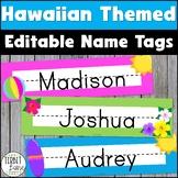 Hawaiian Classroom Theme Name Plates