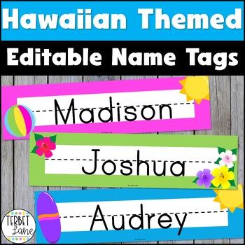 Hawaiian Themed Name Plates