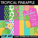 Aloha Pineapple Digital Paper & Clip Art Set