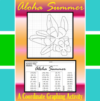 Aloha Summer - A Summer Time Coordinate Graphing Activity