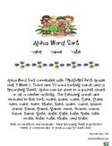 Aloha Word Sort  for  -ake, -ame, -ate.