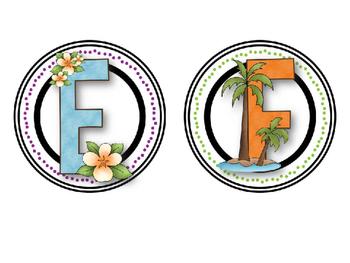 Aloha Word Wall Alphabet