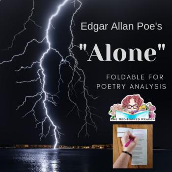 Alone by Edgar Allan Poe Foldable for Poetry Analysis