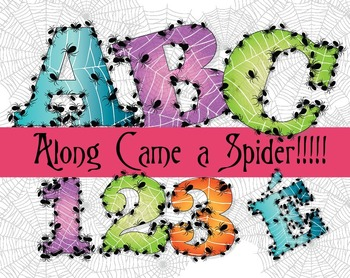 """Along Came a Spider! -  150 DPI - PDF/ PNGs - 4.5"""" High - Vector"""