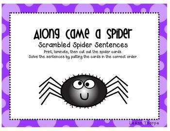 Along Came a Spider Sentence Scramble
