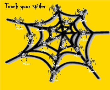 Along came a spider Smart Board Attendance