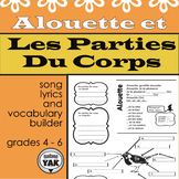 Alouette: lyrics and body parts/Les Paroles et Les Parties