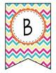 Alphabet Bunting - Multi-colored Chevron