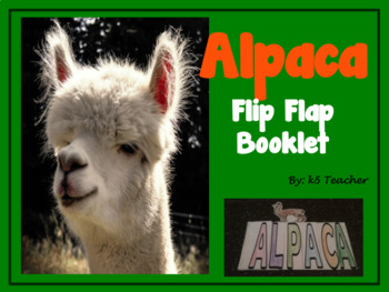 Alpaca Flip Flap Booklet