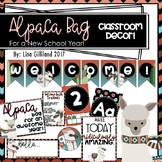 Alpaca Llama and Cactus Decor (Alpaca Bag For a New School Year)! EDITABLE