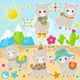 Alpaca clipart commercial use, vector graphics  - CL1088