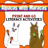 Alpacas with Maracas Book Companion- Print & Go Literacy Activities