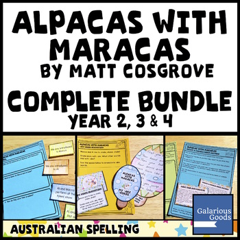 Alpacas with Maracas by Matt Cosgrove COMPLETE BOOK STUDY BUNDLE