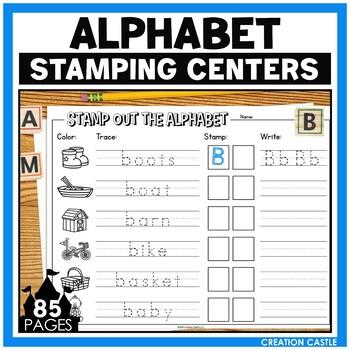 Alphabet Letter Identification Stamping Center