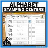 Alphabet Worksheets for Stamping Center