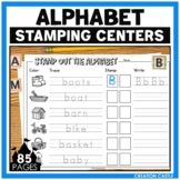 Alphabet Letter Identification Stamping Center