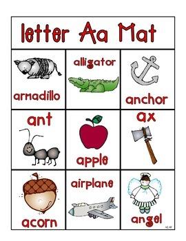 Alpahbet Mats Picture Cards