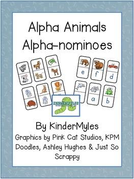 Alpha Animals Alpha-nominoes A to L