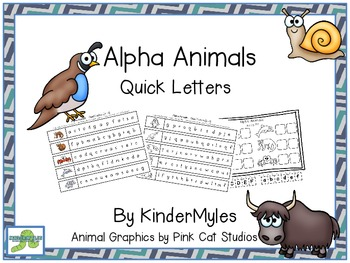 Alpha Animals Quick Letters