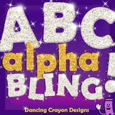 Glitter Alphabet Letters Clip Art: Alpha-BLING!