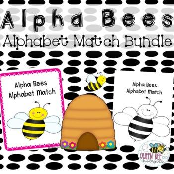 Alpha Bees Alphabet Match Bundle