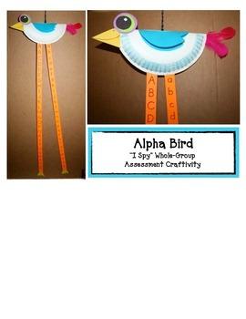 """Free Alphabet Craft: """"Alpha Bird"""" Craftivity: A Letter Assessment Game"""