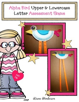 Alpha Bird Craftivity: A Letter Assessment Game